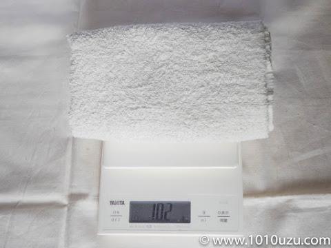 厚手のタオルは102g