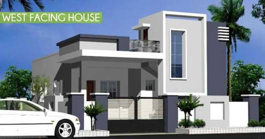 Single Floor Home Front Elevation : Parbhani home expert west facing house elevation