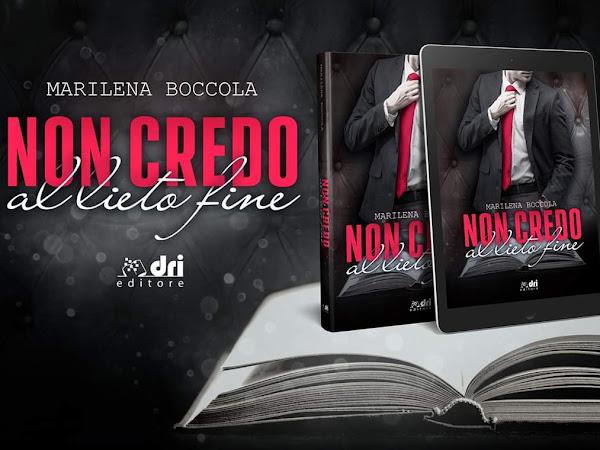 Non credo al lieto fine di Marilena Boccola | Presentazione