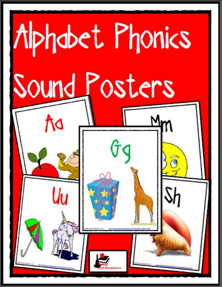 free download - alphabet posters with phonics pictures
