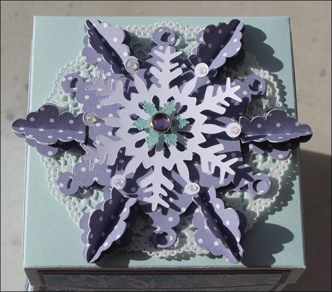 Explosion Box Stampin Up Weihnachten Winterwald Rehe Schnee Schneeflocke 02