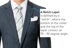 notch lapel 90 and 70 degree