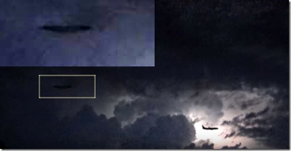 UFO In Lightning Storm Over Italy