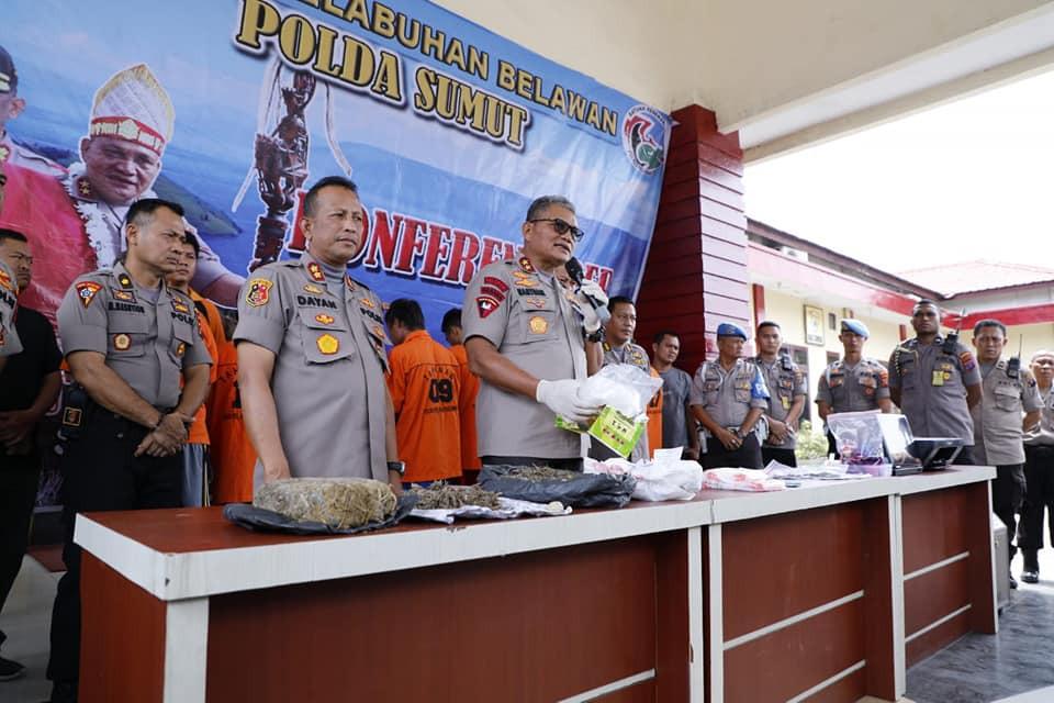 Polres Belawan Sukses Ungkap Pemalsuan STNK, Pencurian dan Pengedaran Narkotika
