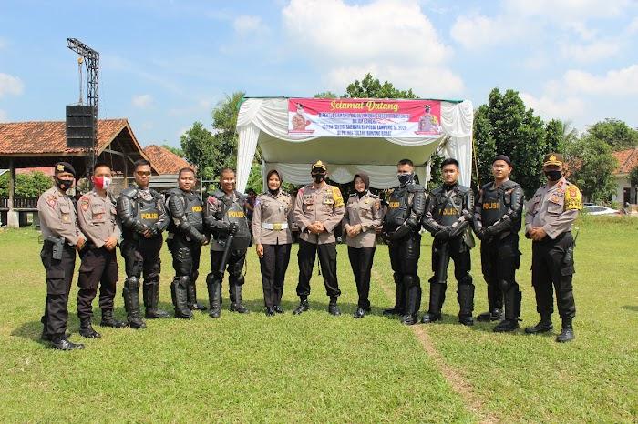 Jajaran Polda Lampung Lomba Dalmas di Lapangan Panaragan Jaya.