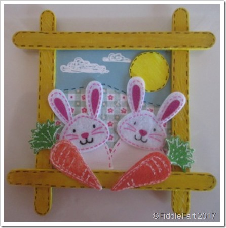 Popsickle Stick Easy Bunny Picture Frame yq