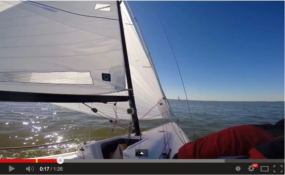 J/70 sailing on Galveston Bay