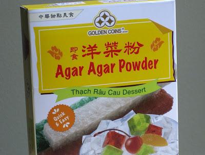 a photo of of box of agar agar powder