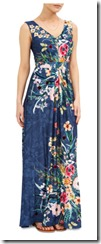 Monsoon jersey floral print maxi dress