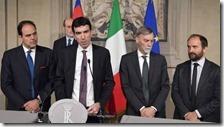 I quattro esponenti del PD alle consultazioni