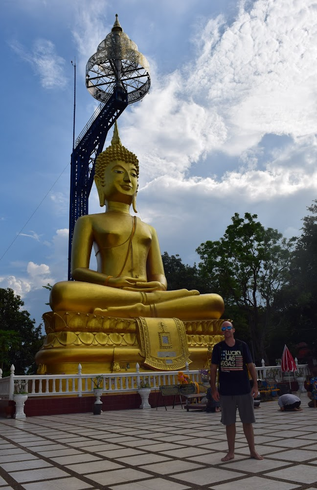 The big Buddha at the top of Khao Kradong volcano.  There were a lot of Thai people visiting here today, but very few foreigners.