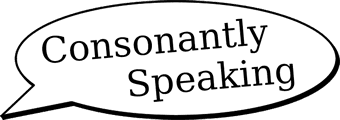 Consonantly Speaking logo
