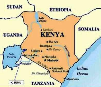 Map Of Kenyan Towns Map Of Nigeria Map Of Ethiopia Map Of - Kenya rivers map
