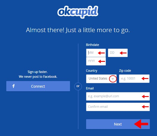 Abrir mi cuenta Okcupid - 750