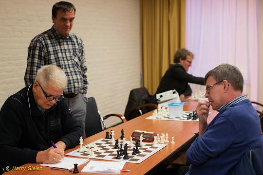 Dick en Leon met toeschouwer Geert