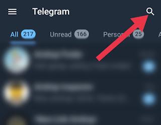 Beranda di Telegram