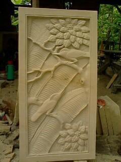 Relief batu alam ukir