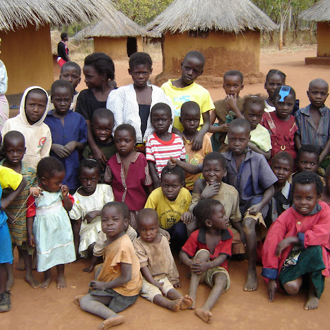 The children from a Zambian village.