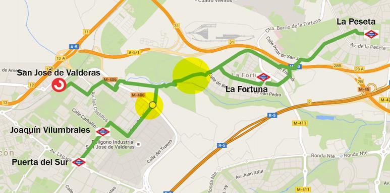 Alcorcón - La Fortuna. Intermodalidad