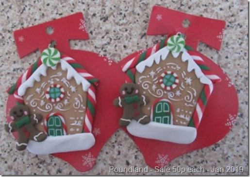 Poundland Gingerbread House tree Decorations