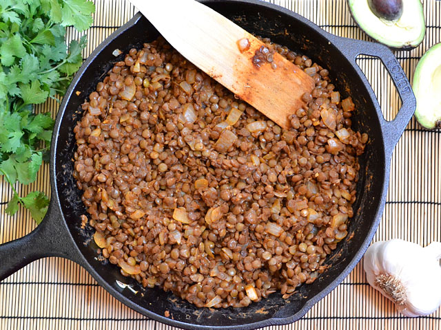 taco seasoned lentils