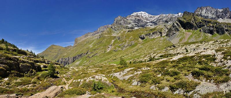 Traversée des Alpes, du lac Léman à la Méditerranée Gr5-mont-blanc-briancon-vanoise-mont-pourri-panorama