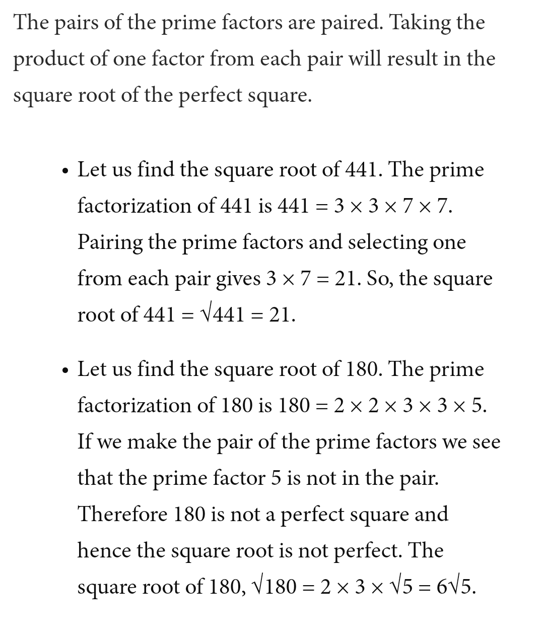 How To Find Square Root Of Non Perfect Squares