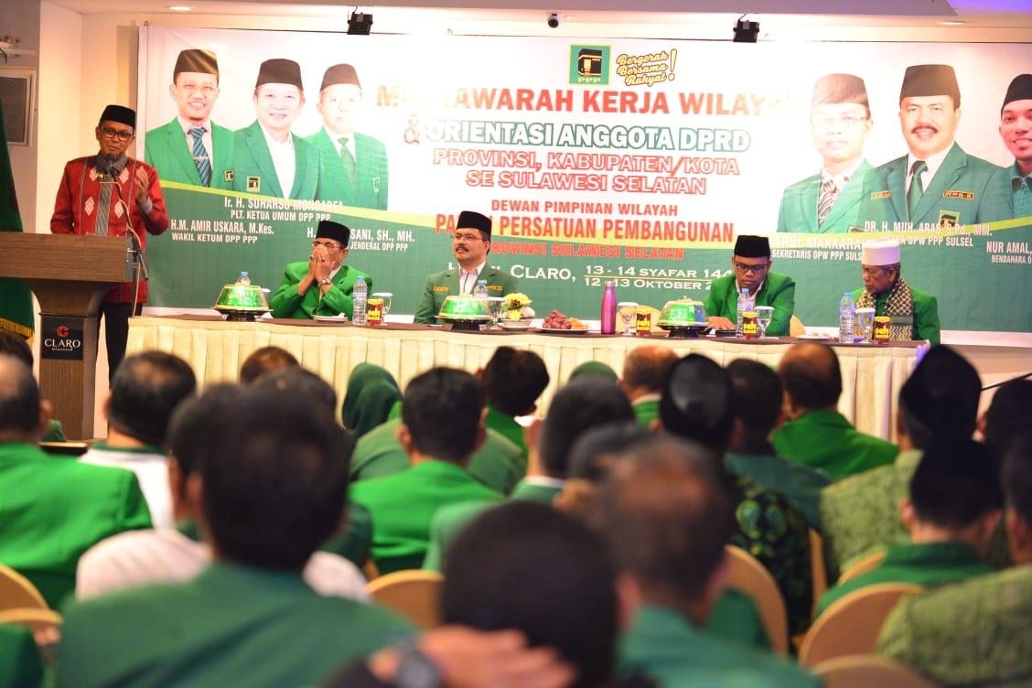 Gubernur Sulsel Hadiri Musyawarah Kerja Wilayah  dan Orientasi Anggota DPRD Provinsi dan Kabupaten -Kota Se-Sulsel dari Parta PPP