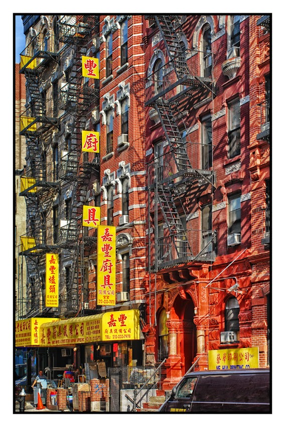China Town–New York City, Architecture, New York City, Fire Escapes