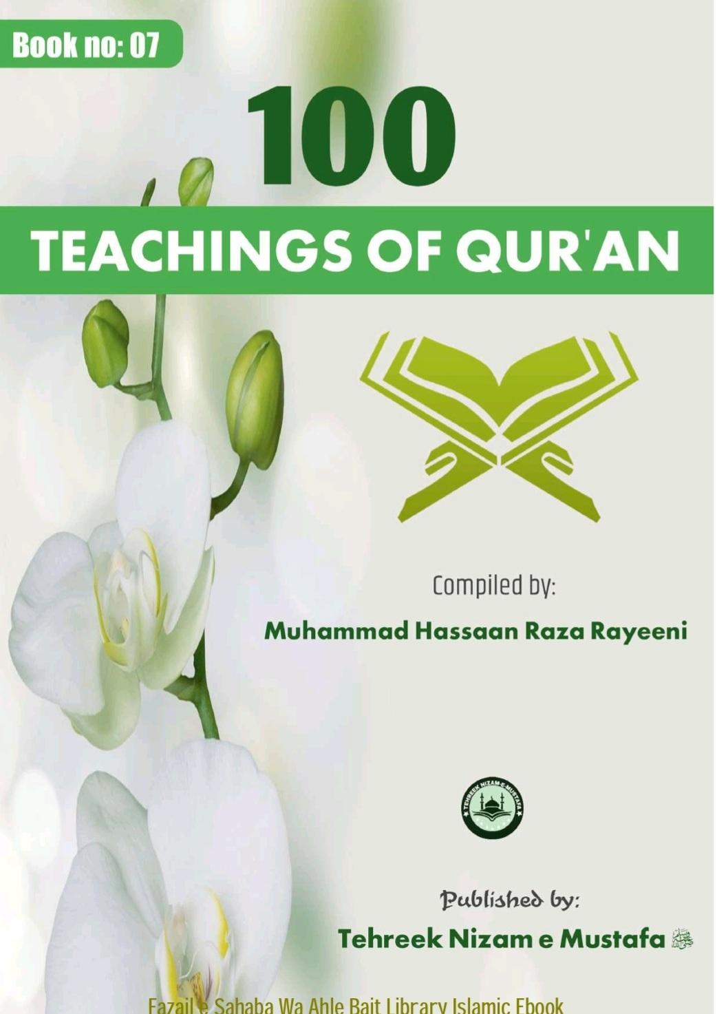 100 Teachings Of Qur'anby Muhammad Hassan Raza Reyeeni100