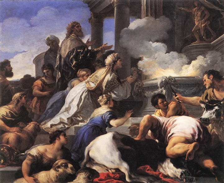 Luca Giordano - Psyche's Parents Offering Sacrifice to Apollo, c. 1692-1702
