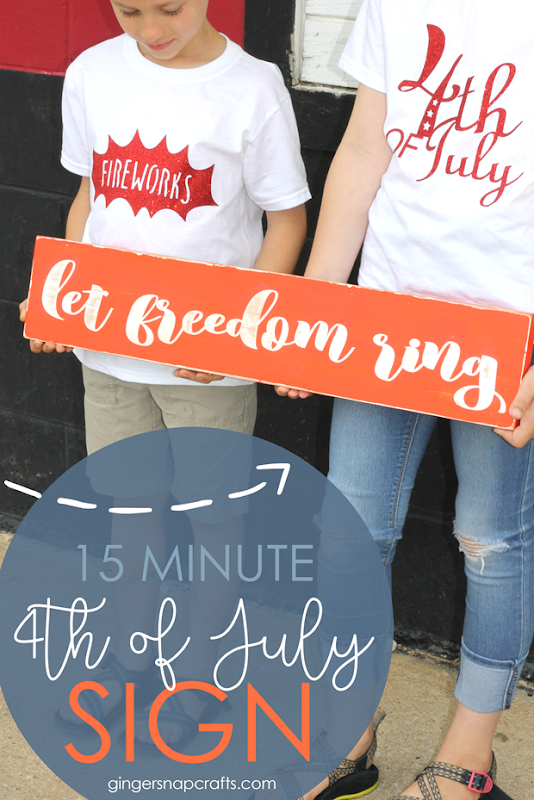 15 minute 4th of July sign at GingerSnapCrafts.com