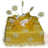 32. kép: Ünnepi torták - Ünnepi virágos szalagos torta