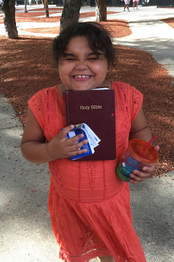 Look how EXCITED Nane was to receive her own copy of God's Word!!!