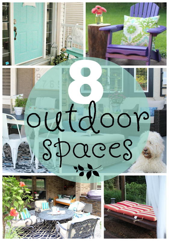 8 Outdoor Spaces at GingerSnapCrafts.com #outdoor #spaces
