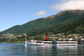 A steamer sailing out of Queenstown