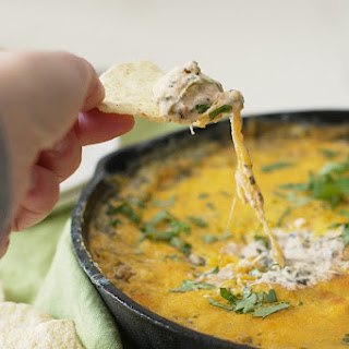 Southwestern Spicy Roasted Corn and Spinach Cheese Dip.
