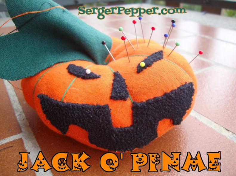 SergerPepper - Jack O'PinMe - Pincushion - Pin Sharpener