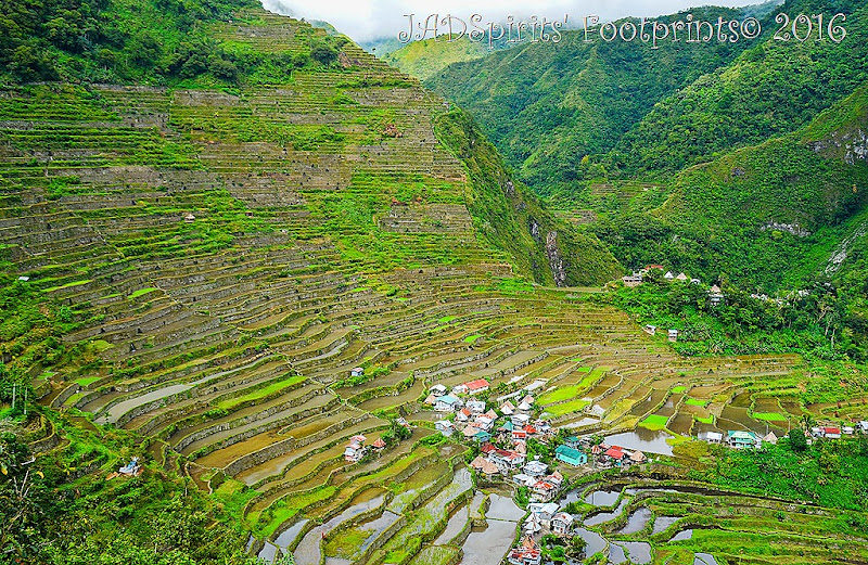 The famous Batad Rice Terraces as seen from the first viewpoint