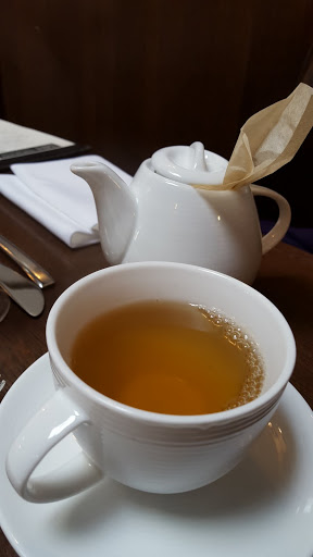 Local Ontario Herbal tea, from Tea Leaves, served at Mercer Hall, Stratford, Ontario