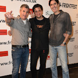 OIC - ENTSIMAGES.COM - Yoav Paz, Shaked Berenson and Doran Paz  at the Film4 Frightfest on Friday of  Jeruzalem  UK Film Premiere at the Vue West End in London on the 28th August 2015. Photo Mobis Photos/OIC 0203 174 1069