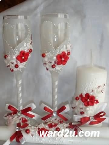 عجينه الفيمو على كاسات العروسه