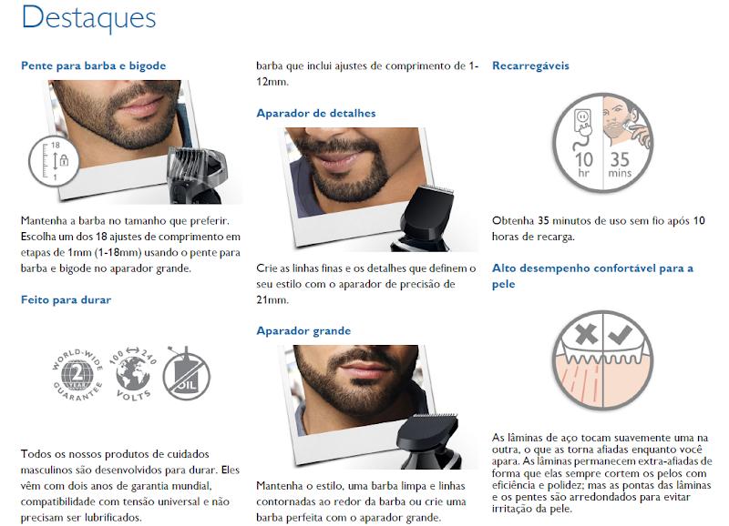 Adesivo De Quarto Para Bebe ~ Kit Aparador De Pelos E Barba Philips Bivolt Multigroom R$ 219,99 em Mercado Livre