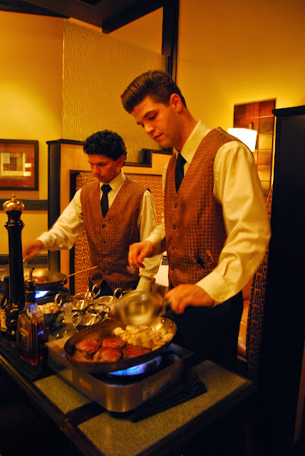 Steak Diane being prepared tableside at The Steakhouse / Credit: Bellingham Whatcom County Tourism