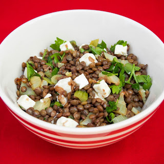 French Lentil Salad With Feta, Fennel And Celery