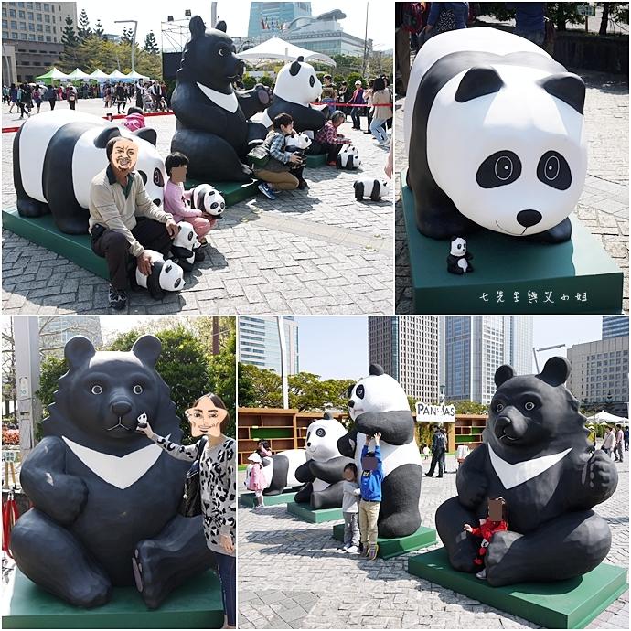 11 紙貓熊 1600貓熊之旅-台北 0224 台北市政府廣場展覽