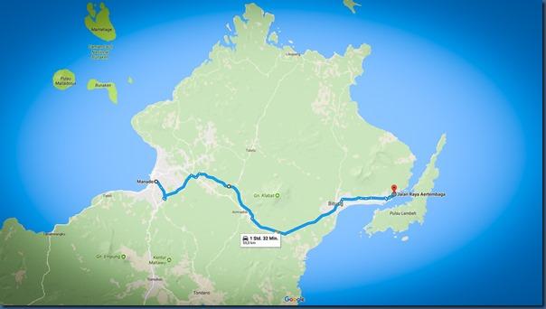 Autofahrt Manado nach Bitung