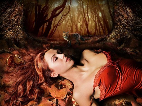 Sleeping Beauty And Wolf, Magic Samurai Beauties