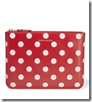 Comme des Garcons Red Polka Dot Pouch