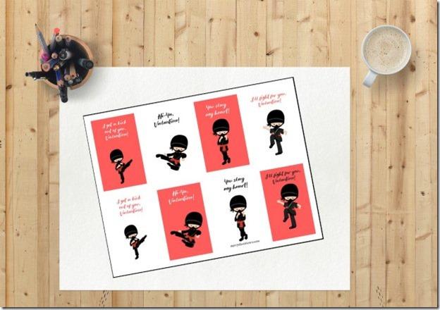Ninja-Printable-Valentines-Cards-620x438